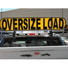 Retro-fit Flip-up Short OVERSIZE LOAD Sign