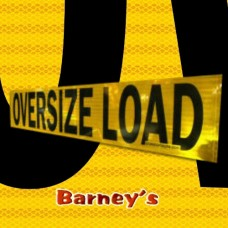 Reflective 12 x 60 OVERSIZE LOAD Sign .04 Alm 2 sided