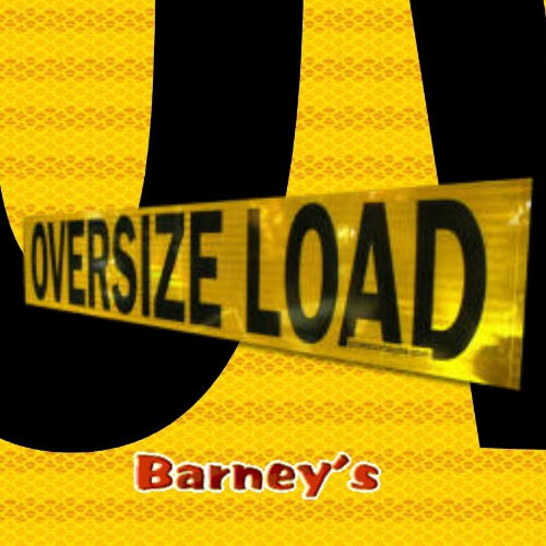 Reflective 12 X 60 Oversize Load Sign 04 Alm 2 Sided