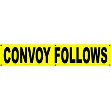 CONVOY FOLLOWS Banner 12x60