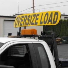 Retro-fit Flip-up Tall OVERSIZE LOAD Sign