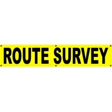 ROUTE SURVEY Banner 12x60