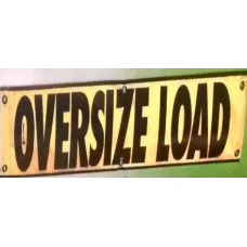 18x84 OVERSIZE LOAD MESH BANNER