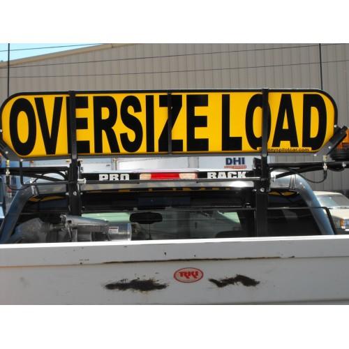 Retro Fit Flip Up Short Oversize Load Sign